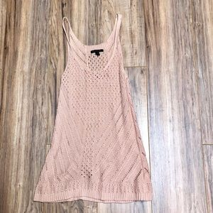 American Eagle Peach Sweater Knit Tank Large